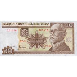 Cuba - Pick 117e - 10 pesos - 2002 - Etat : NEUF