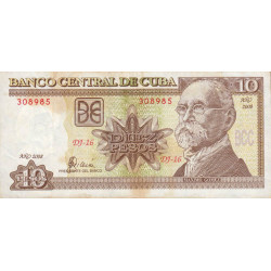 Cuba - Pick 117j - 10 pesos - 2008 - Etat : TB