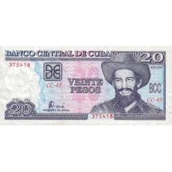 Cuba - Pick 118c - 20 pesos - 2001 - Etat : TB+