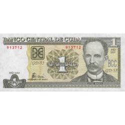 Cuba - Pick 121c - 1 peso - 2003 - Etat : NEUF