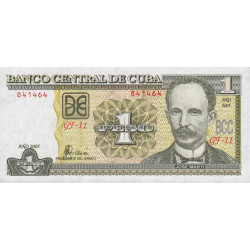 Cuba - Pick 121e - 1 peso - 2005 - Etat : NEUF