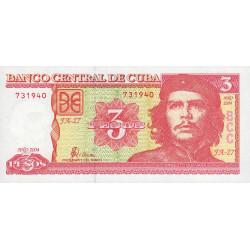 Cuba - Pick 127a - 3 pesos - 2004 - Etat : NEUF