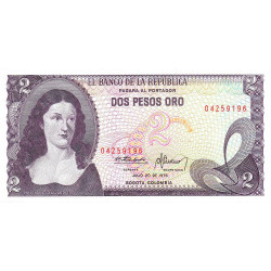 Colombie - Pick 413b_1 - 2 pesos oro - 1976 - Etat : NEUF
