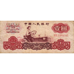 Chine - Peoples Bank of China - Pick 874c - 1 yüan - 1960 - Etat : TB