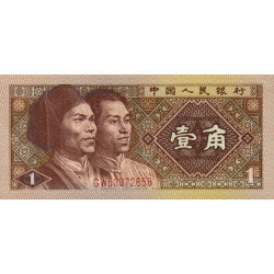 Chine - Peoples Bank of China - Pick 881 - 1 jiao - 1980 - Etat : NEUF