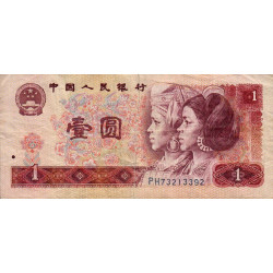 Chine - Peoples Bank of China - Pick 884a - 1 yüan - 1980 - Etat : TB