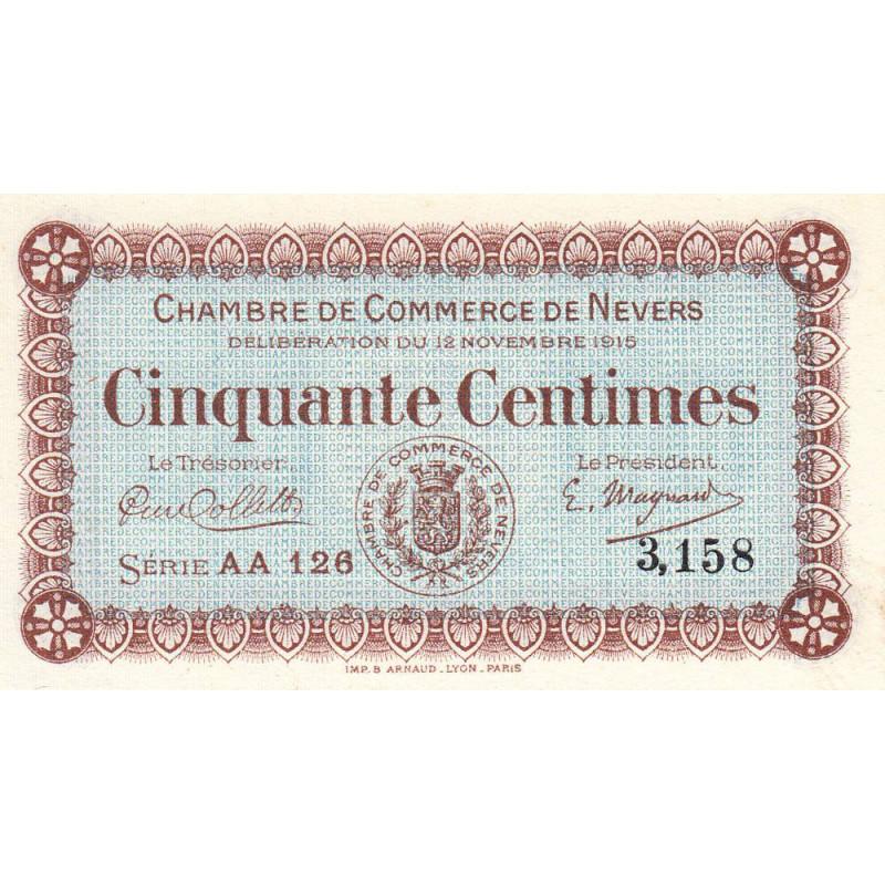 Nevers - Pirot 90-5 - 50 centimes - Etat : NEUF