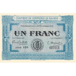 Nevers - Pirot 90-7 - 1 franc - Petit numéro - Etat : NEUF