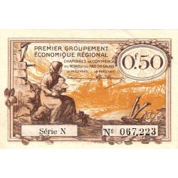 Nord et Pas-de-Calais - Pirot 94-4a - Série N - 50 centimes - Etat : SUP+