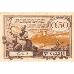 Nord et Pas-de-Calais - Pirot 94-4a - Série Q - 50 centimes - Etat : TTB
