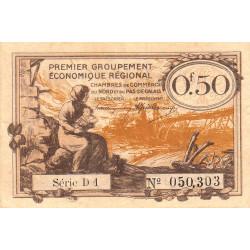 Nord et Pas-de-Calais - Pirot 94-4a - Série D1 - 50 centimes - Etat : TTB