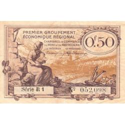 Nord et Pas-de-Calais - Pirot 94-4a - Série R1 - 50 centimes - Etat : TB+