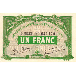 Orléans - Loiret - Pirot 95-12 - 1 franc - Etat : SUP+