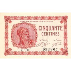 Paris - Pirot 97-10-G - 50 centimes - Etat : SPL