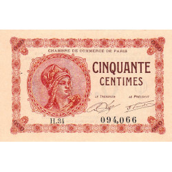 Paris - Pirot 97-10-H - 50 centimes - Etat : pr.NEUF