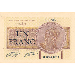 Paris - Pirot 97-23-B - 1 franc - Etat : SUP