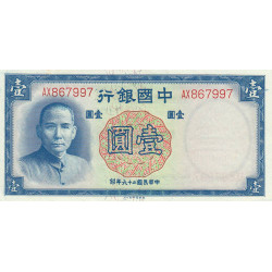 Chine - Bank of China - Pick 79 - 1 yüan - 1937 - Etat : NEUF