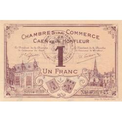 Caen / Honfleur - Pirot 34-06-003 - 1 franc - Etat : TTB+