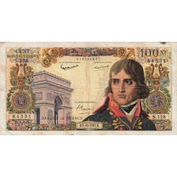 F 59-12 - 05/10/1961 - 100 nouv. francs - Bonaparte - Etat : TB