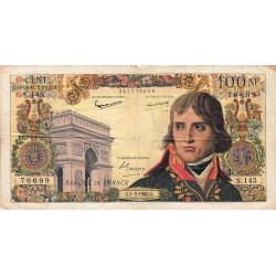 F 59-13 - 01/02/1962 - 100 nouv. francs - Bonaparte - Etat : TB-