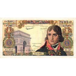 F 59-12 - 05/10/1961 - 100 nouv. francs - Bonaparte - Etat : TB+