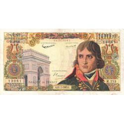 F 59-22 - 11/07/1963 - 100 nouv. francs - Bonaparte - Etat : TB-