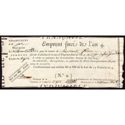 Gers - Villecomtal - Révolution - Emprunt forcé de l'an IV - 1795 - 60 francs - Etat : SUP
