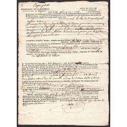 Charente - Cognac - Louis XV - 1725 - Droit de confirmation - 66 livres - Etat : TTB+
