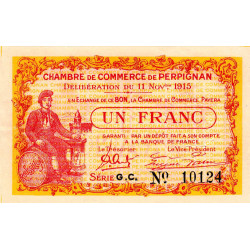 Perpignan - Pirot 100-12-GC - 1 franc - Etat : SUP+