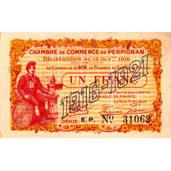 Perpignan - Pirot 100-20-EP - 1 franc - Etat : SUP+