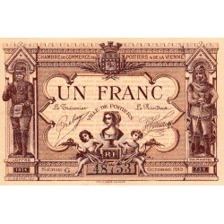 Poitiers - Vienne - Pirot 101-3-G - 1 franc - Etat : SUP