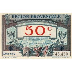 Région Provençale - Pirot 102-1-XXV - 50 centimes - Etat : SUP+