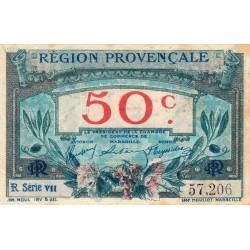 Région Provençale - Pirot 102-7-R VII - 50 centimes - Etat : SUP