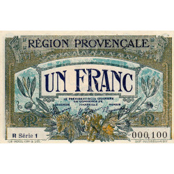 Région Provençale - Pirot 102-12-R 1 - 1 franc - Etat : SUP+
