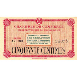 Puy-de-Dôme - Pirot 103-19-AJ135 - 50 centimes - Etat : TTB+