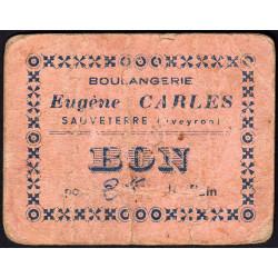 12-nr Sauveterre - Boulangerie E. Carles - Bon pour 2 kilos de pain - Etat : B