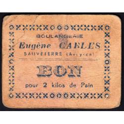 12-nr Sauveterre - Boulangerie E. Carles - Bon pour 2 kilos de pain - Etat : TB-
