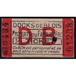41-nr Blois - Docks de Blois - 1/2 ticket - Etat : SUP