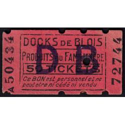 41-nr Blois - Docks de Blois - 50 tickets - Etat : SPL