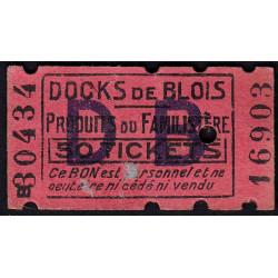 41-nr Blois - Docks de Blois - 50 tickets - Etat : TTB