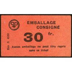 42 - Lorette - Prisunic - Consigne 30 francs - Etat : SUP