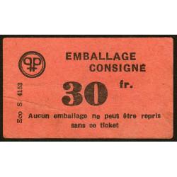 42 - Lorette - Prisunic - Consigne 30 francs - Etat : TTB