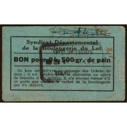 46-nr Souillac - Boulangerie Combes - Bon pour 0k,500 de pain - Etat : TB+