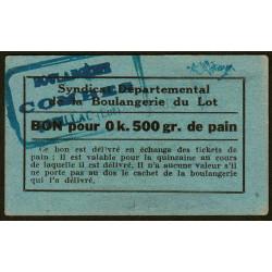 46-nr Souillac - Boulangerie Combes - Bon pour 0k,500 de pain - Etat : SUP+