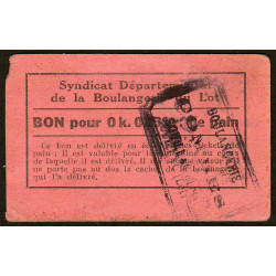 46-nr Souillac - Boulangerie Combes - Bon pour 0k,025 de pain - Etat : TB+