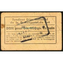 46-nr Souillac - Boulangerie Combes - Bon pour 0k,050 de pain - Etat : TB+