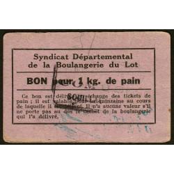 46-nr Souillac - Boulangerie Combes - Bon pour 1 kg. de pain - Etat : TTB
