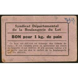 46-nr Souillac - Boulangerie Combes - Bon pour 1 kg. de pain - Etat : SUP