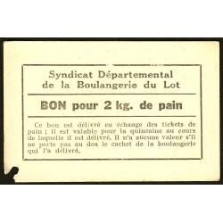 46-nr Souillac - Boulangerie Combes - Bon pour 2 kg. de pain - Etat : TTB