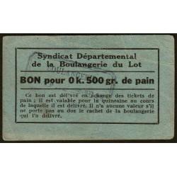 46-nr Souillac - Boulangerie Combes - Bon pour 0k,500 de pain - Etat : TTB-